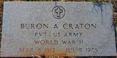 CRATON (VETERAN WWII), BURON A (NEW) - Tishomingo County, Mississippi | BURON A (NEW) CRATON (VETERAN WWII) - Mississippi Gravestone Photos