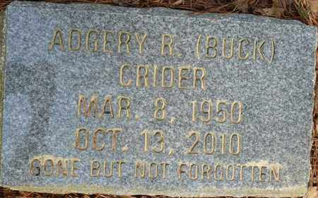 "CRIDER, ADGERY R ""BUCK"" - Tishomingo County, Mississippi | ADGERY R ""BUCK"" CRIDER - Mississippi Gravestone Photos"