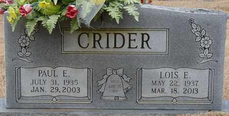 CRIDER, LOIS E - Tishomingo County, Mississippi | LOIS E CRIDER - Mississippi Gravestone Photos