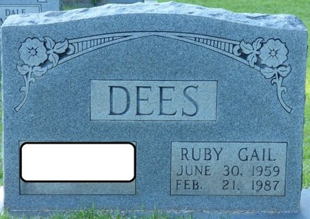 DEES, RUBY GAIL - Tishomingo County, Mississippi   RUBY GAIL DEES - Mississippi Gravestone Photos