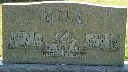 DILL, BETTY F - Tishomingo County, Mississippi | BETTY F DILL - Mississippi Gravestone Photos
