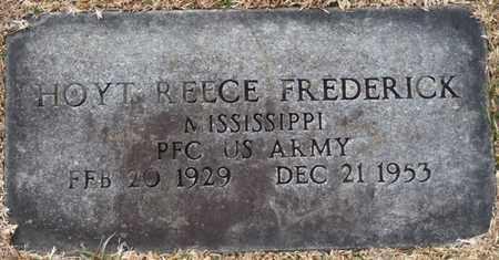 FREDERICK (VETERAN), HOYT REECE (NEW) - Tishomingo County, Mississippi | HOYT REECE (NEW) FREDERICK (VETERAN) - Mississippi Gravestone Photos