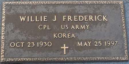 FREDERICK (VETERAN KOR), WILLIE J (NEW) - Tishomingo County, Mississippi | WILLIE J (NEW) FREDERICK (VETERAN KOR) - Mississippi Gravestone Photos