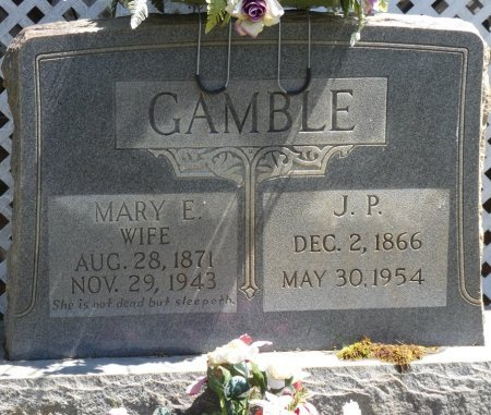 GAMBLE, MARY E - Tishomingo County, Mississippi | MARY E GAMBLE - Mississippi Gravestone Photos