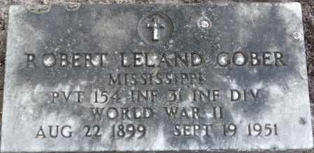 GOBER (VETERAN WWII), ROBERT LELAND (NEW) - Tishomingo County, Mississippi   ROBERT LELAND (NEW) GOBER (VETERAN WWII) - Mississippi Gravestone Photos