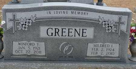 GREENE, WINFORD T - Tishomingo County, Mississippi | WINFORD T GREENE - Mississippi Gravestone Photos