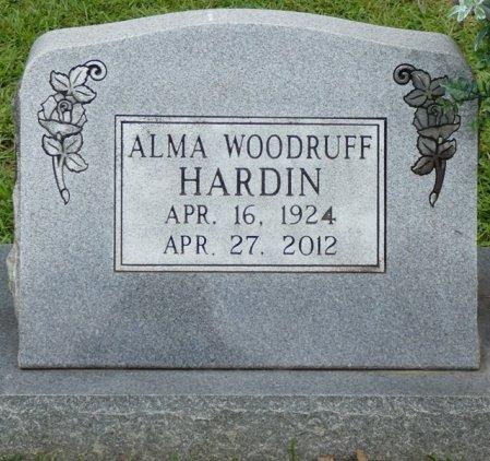 WOODRUFF HARDIN, ALMA - Tishomingo County, Mississippi | ALMA WOODRUFF HARDIN - Mississippi Gravestone Photos