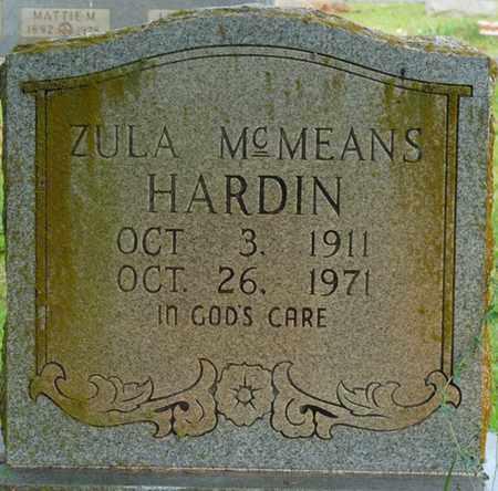 MCMEANS HARDIN, ZULA - Tishomingo County, Mississippi | ZULA MCMEANS HARDIN - Mississippi Gravestone Photos