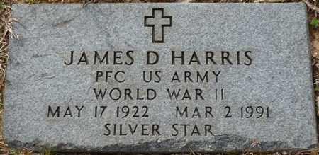 HARRIS (VETERAN WWII), JAMES D - Tishomingo County, Mississippi | JAMES D HARRIS (VETERAN WWII) - Mississippi Gravestone Photos