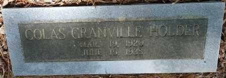 HOLDER, COLAS GRANVILLE - Tishomingo County, Mississippi | COLAS GRANVILLE HOLDER - Mississippi Gravestone Photos