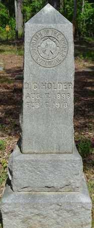 HOLDER, D.C. - Tishomingo County, Mississippi | D.C. HOLDER - Mississippi Gravestone Photos
