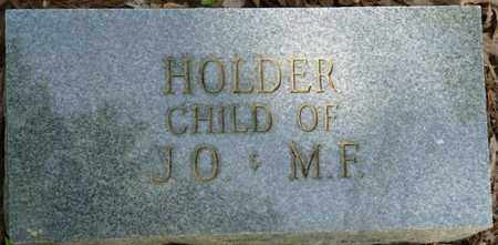 HOLDER, INFANT - Tishomingo County, Mississippi | INFANT HOLDER - Mississippi Gravestone Photos