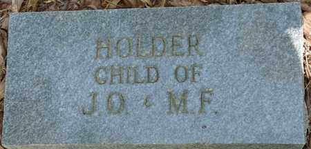 HOLDER, INFANT - Tishomingo County, Mississippi | INFANT HOLDER - Mississippi Gravestone Photos