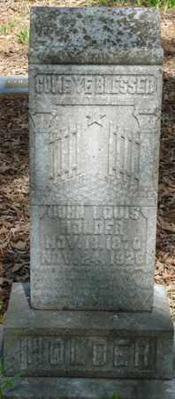 HOLDER, JOHN LOUIS - Tishomingo County, Mississippi   JOHN LOUIS HOLDER - Mississippi Gravestone Photos