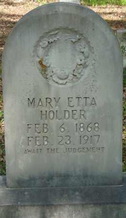 HOLDER, MARY ETTA - Tishomingo County, Mississippi | MARY ETTA HOLDER - Mississippi Gravestone Photos