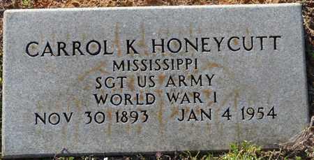 HONEYCUTT (VETERAN WWI), CARROL KENDRICK - Tishomingo County, Mississippi | CARROL KENDRICK HONEYCUTT (VETERAN WWI) - Mississippi Gravestone Photos