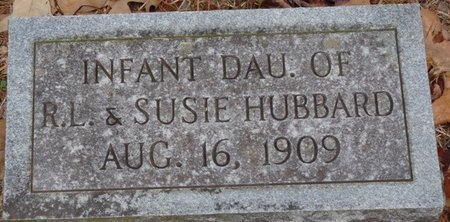 HUBBARD, INFANT DAUGHTER - Tishomingo County, Mississippi | INFANT DAUGHTER HUBBARD - Mississippi Gravestone Photos