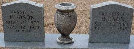 HUDSON, FRANCIS E - Tishomingo County, Mississippi | FRANCIS E HUDSON - Mississippi Gravestone Photos