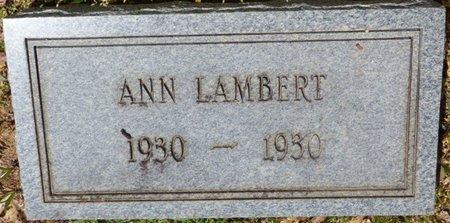 LAMBERT, ANN - Tishomingo County, Mississippi | ANN LAMBERT - Mississippi Gravestone Photos