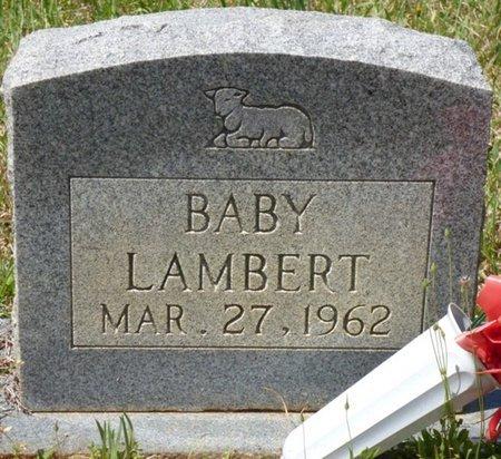 LAMBERT, BABY - Tishomingo County, Mississippi | BABY LAMBERT - Mississippi Gravestone Photos