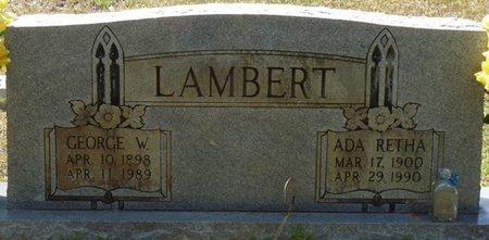 LAMBERT, ADA RETHA - Tishomingo County, Mississippi | ADA RETHA LAMBERT - Mississippi Gravestone Photos