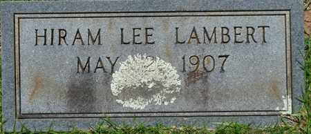 LAMBERT, HIRAM LEE - Tishomingo County, Mississippi | HIRAM LEE LAMBERT - Mississippi Gravestone Photos