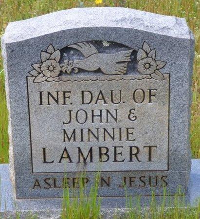 LAMBERT, INFANT DAUGHTER - Tishomingo County, Mississippi | INFANT DAUGHTER LAMBERT - Mississippi Gravestone Photos