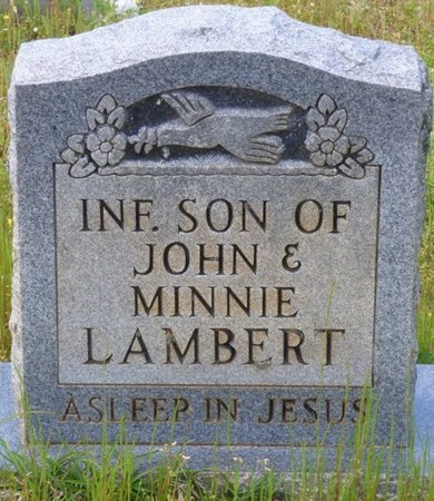 LAMBERT, INFANT SON - Tishomingo County, Mississippi   INFANT SON LAMBERT - Mississippi Gravestone Photos