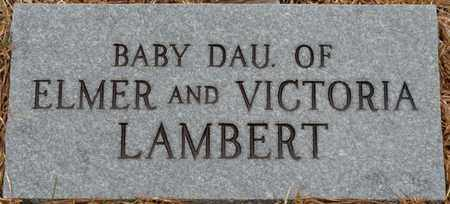 LAMBERT, INFANT DAUGHTER - Tishomingo County, Mississippi | INFANT DAUGHTER LAMBERT - Mississippi Gravestone Photos