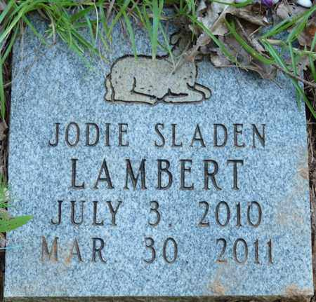 LAMBERT, JODIE SLADEN - Tishomingo County, Mississippi   JODIE SLADEN LAMBERT - Mississippi Gravestone Photos
