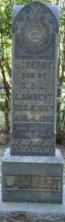 LAMBERT, JOSEPH F - Tishomingo County, Mississippi | JOSEPH F LAMBERT - Mississippi Gravestone Photos