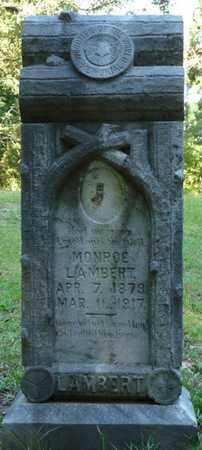 LAMBERT, MONROE - Tishomingo County, Mississippi   MONROE LAMBERT - Mississippi Gravestone Photos