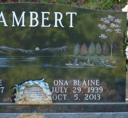 LAMBERT, ONA BLAINE - Tishomingo County, Mississippi | ONA BLAINE LAMBERT - Mississippi Gravestone Photos