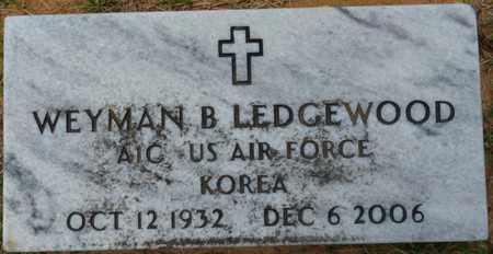 LEDGEWOOD (VETERAN KOREA), WEYMAN B - Tishomingo County, Mississippi | WEYMAN B LEDGEWOOD (VETERAN KOREA) - Mississippi Gravestone Photos
