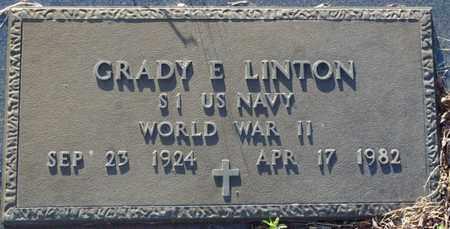 LINTON (VETERAN WWII), GRADY E - Tishomingo County, Mississippi   GRADY E LINTON (VETERAN WWII) - Mississippi Gravestone Photos