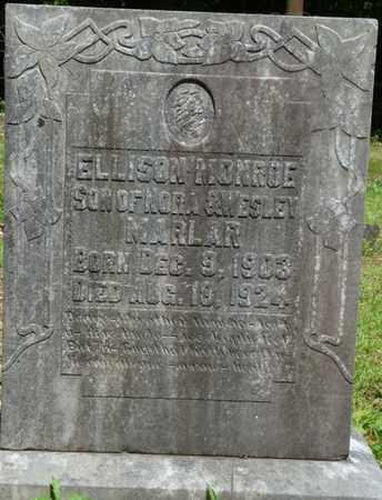 MARLAR, ELLISON MONROE - Tishomingo County, Mississippi   ELLISON MONROE MARLAR - Mississippi Gravestone Photos