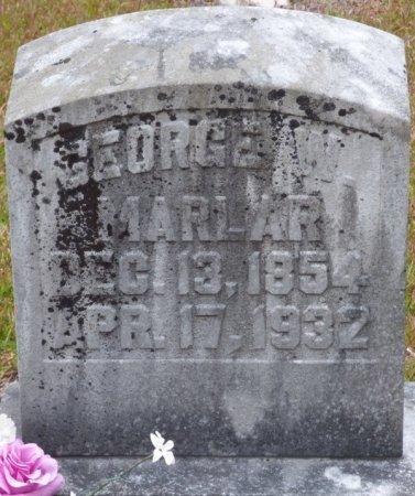 MARLAR, GEORGE W - Tishomingo County, Mississippi | GEORGE W MARLAR - Mississippi Gravestone Photos