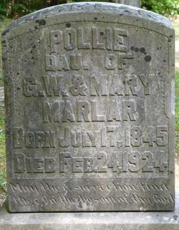 MARLAR, POLLIE - Tishomingo County, Mississippi   POLLIE MARLAR - Mississippi Gravestone Photos