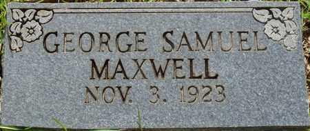 MAXWELL, GEORGE SAMUEL - Tishomingo County, Mississippi | GEORGE SAMUEL MAXWELL - Mississippi Gravestone Photos