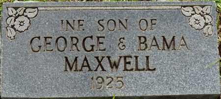 MAXWELL, INFANT SON - Tishomingo County, Mississippi | INFANT SON MAXWELL - Mississippi Gravestone Photos