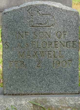 MAXWELL, INFANT SON - Tishomingo County, Mississippi | INFANT SON MAXWELL - Mississippi Gravestone Photos