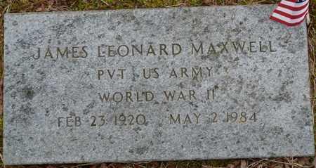 MAXWELL (VETERAN WWII), JAMES LEONARD - Tishomingo County, Mississippi | JAMES LEONARD MAXWELL (VETERAN WWII) - Mississippi Gravestone Photos