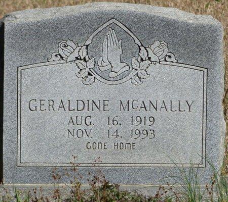 MCANALLY, GERALDINE - Tishomingo County, Mississippi | GERALDINE MCANALLY - Mississippi Gravestone Photos