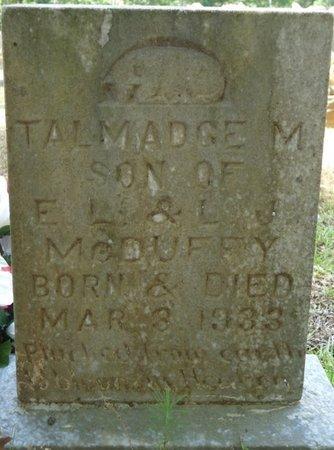 MCDUFFY, TALMADGE M - Tishomingo County, Mississippi | TALMADGE M MCDUFFY - Mississippi Gravestone Photos