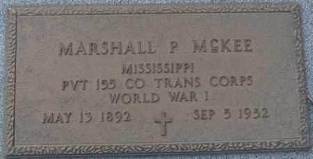 MCKEE (VETERAN WWI), MARSHALL P - Tishomingo County, Mississippi | MARSHALL P MCKEE (VETERAN WWI) - Mississippi Gravestone Photos