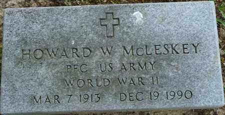 MCLESKEY (VETERAN WWII), HOWARD W - Tishomingo County, Mississippi | HOWARD W MCLESKEY (VETERAN WWII) - Mississippi Gravestone Photos