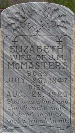MCMASTERS, ELIZABETH - Tishomingo County, Mississippi   ELIZABETH MCMASTERS - Mississippi Gravestone Photos