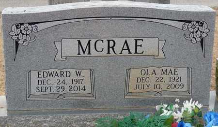 MCRAE, EDWARD W - Tishomingo County, Mississippi | EDWARD W MCRAE - Mississippi Gravestone Photos
