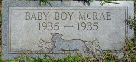 MCRAE, INFANT SON - Tishomingo County, Mississippi | INFANT SON MCRAE - Mississippi Gravestone Photos