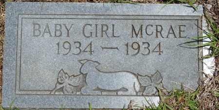 MCRAE, INFANT DAUGHTER - Tishomingo County, Mississippi   INFANT DAUGHTER MCRAE - Mississippi Gravestone Photos